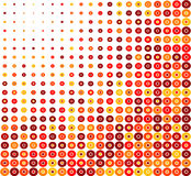 Retro priorità bassa del cerchio rosso Immagine Stock