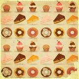 Retro priorità bassa del dessert Fotografia Stock