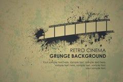 Retro priorità bassa del runge astratto Film lacerato Fotografia Stock Libera da Diritti