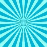 Retro priorità bassa dello sprazzo di sole Modello blu centrico, linea di Sun Fotografie Stock