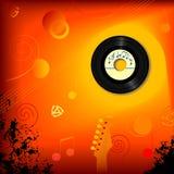 Retro priorità bassa di musica di 45 giri/min. illustrazione di stock