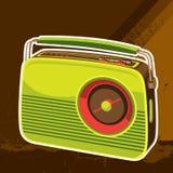 Retro priorità bassa radiofonica progettata Fotografia Stock Libera da Diritti