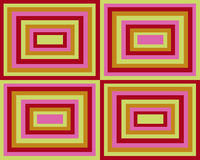 Retro priorità bassa simmetrica dei quadrati Immagini Stock
