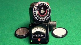 Retro professional exposure meter. This is footage of retro professional exposure meter stock video