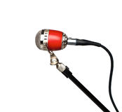 Retro professional microphone. On a white background Royalty Free Stock Image