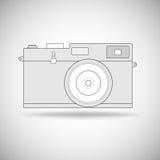 Retro profilo della macchina fotografica della foto Immagini Stock Libere da Diritti