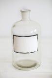 Retro progettazione alla moda antica della bottiglia di vetro Immagine Stock Libera da Diritti