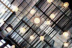 Retro progettazione arancio della lampadina di Edison immagine stock libera da diritti
