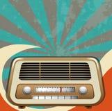Retro progettazione con la radio d'annata royalty illustrazione gratis