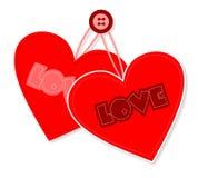 Retro progettazione del cuore Fotografia Stock