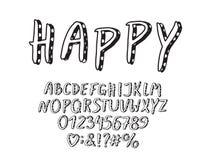 Retro progettazione di alfabeto Lettere, numeri e segni di interpunzione ENV 10 illustrazione vettoriale