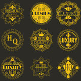 Retro projekta insygni logotypów Luksusowy szablon Fotografia Royalty Free