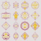 Retro projekta insygni logotypów Luksusowy szablon Obraz Stock