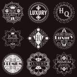 Retro projekta insygni logotypów Luksusowy szablon Zdjęcie Stock