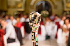 Retro projekta mikrofon Zdjęcia Royalty Free