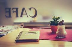 Retro Projektująca kawiarnia Zdjęcie Royalty Free
