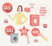 Retro promo elements Royalty Free Stock Image