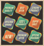 Retro promotional design elements Stock Photography