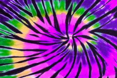 Colorful Tie Dye Swirl Spiral Design Pattern stock images