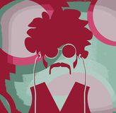 Retro psychedelic man Royalty Free Stock Photo