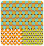 Retro Psychedelic Pattern ~1. Retro seamless pattern with 3 colour schemes Royalty Free Stock Photos