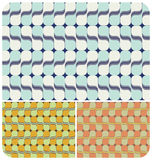 Retro Psychedelic Pattern ~3. Retro seamless pattern with 3 colour schemes Royalty Free Stock Photos