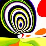 Retro psychedelisch landschap Royalty-vrije Stock Afbeeldingen