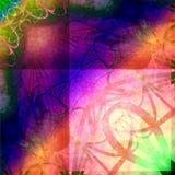 Retro Psychedelische Achtergrond van Grunge Royalty-vrije Stock Afbeelding