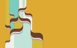 Retro- psychedelischer Hintergrund v.1 stock abbildung