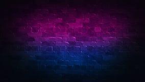 Retro pubblicit? astratta 80s con il neon variopinto del fondo del muro di mattoni per progettazione di massima Reticolo della pr royalty illustrazione gratis