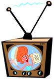 Retro pubblicità televisiva Immagini Stock