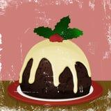 Retro pudding di natale Fotografie Stock Libere da Diritti