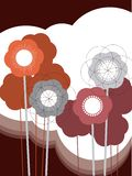 Retro puff flower. Illustrated art vector illustration