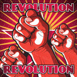 Retro Punching Fist Revolution Sign. Stock Photography