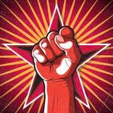 Retro Punching Fist Sign. Royalty Free Stock Photo