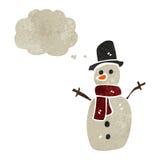 retro pupazzo di neve del fumetto Immagine Stock Libera da Diritti