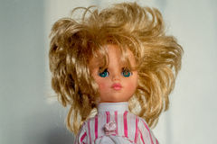 Retro- Puppe der Nahaufnahme Stockfotografie