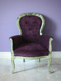 The retro purple chair Stock Photos