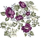 Retro purple flower Stock Photo