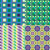 4 Retro Purple Patterns Vector Stock Images