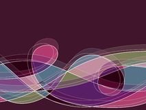 Retro purple scribble loop Stock Photography