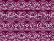 Retro purple seamless damask pattern Stock Photos