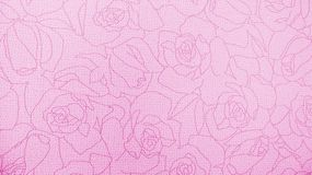Retro purpurfärgade Rose Pattern Fabric Background Texture Arkivfoto