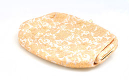Retro purse with gold embroidery Stock Images