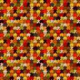 Retro puzzle senza giunte Immagine Stock
