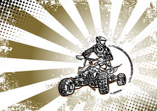 Retro quad bike poster background Royalty Free Stock Photo