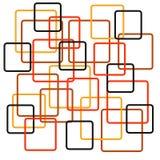 Retro quadrati Fotografia Stock