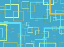 Retro quadrati Immagini Stock