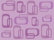 Retro quadrati lilla Funky illustrazione di stock