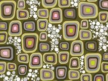 Retro quadrati molli viola del bordo illustrazione vettoriale